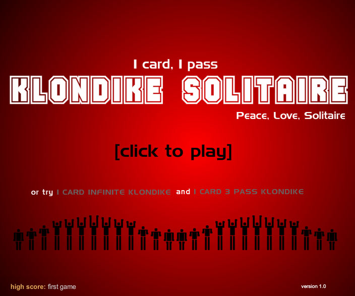 1 pass solitaire