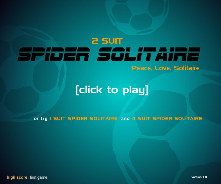 Click to view spider solitaire, 2 suit 1.0 screenshot